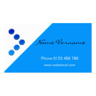 circle blue business card template