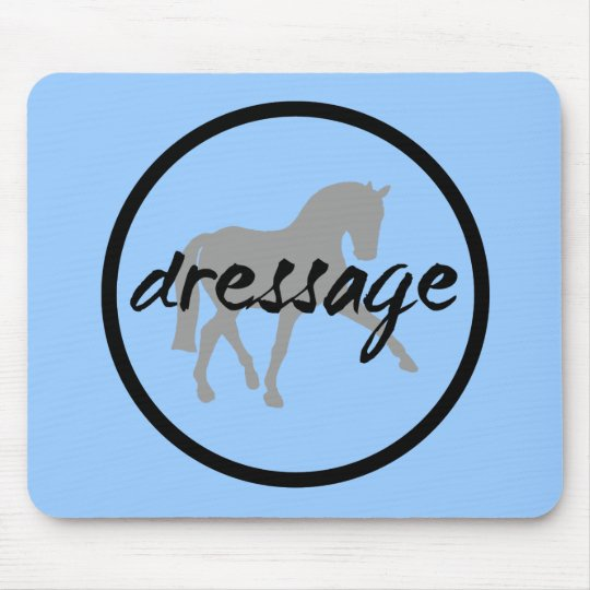 Circle Border Dressage Sidepass Mouse Pad