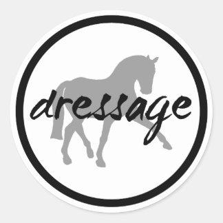 Circle Border Dressage Sidepass Classic Round Sticker