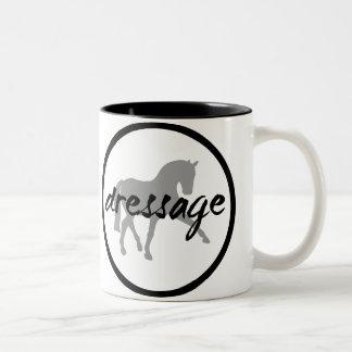 Circle Border Dressage Sidepass Two-Tone Coffee Mug