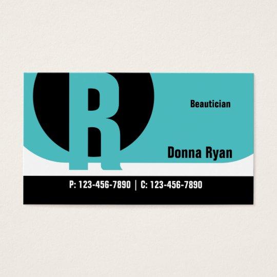 Circle Business Card/ Blue Business Card