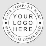 """Circle Business Logo Custom Classic Round Sticker<br><div class=""""desc"""">Create Your Own Custom Business Logo Sticker.  For more advanced customization of this design,  Please click the """"Customize further"""" link.</div>"""