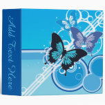 Circle Butterflies 3 Ring Binder