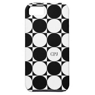 Circle Chessboard Custom Color Optional Monogram iPhone 5 Covers