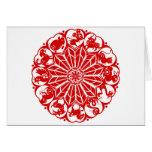 Circle Chinese Zodiac Papercut Greeting Card