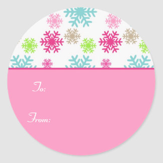 Circle Christmas Gift Tag Sticker Labels//Sweet