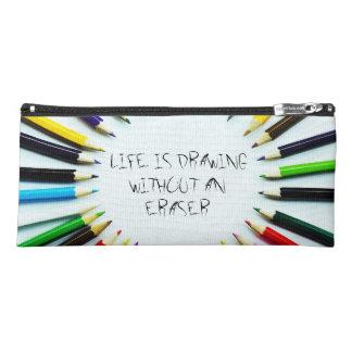 Circle colorful pencils / crayons + your ideas pencil case