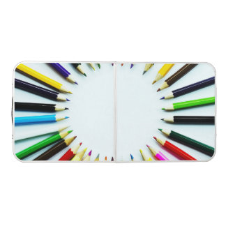 Circle colorful pencils / crayons + your ideas pong table