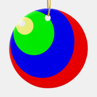 circle colors ceramic ornament