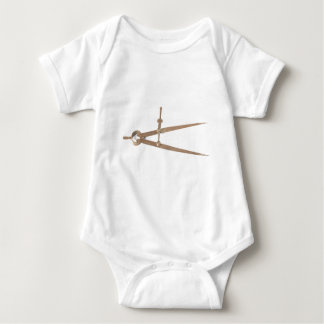 Circle Compass - Measuring Tool Baby Bodysuit