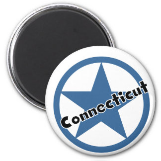 Circle Connecticut 2 Inch Round Magnet