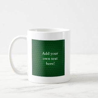 Circle Cross in Green Coffee Mug