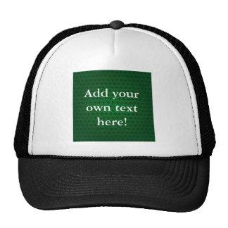 Circle Cross in Green Mesh Hats