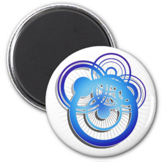 Circle Dance - blue Magnet