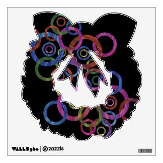 Circle Dance - Wreath Wall Sticker