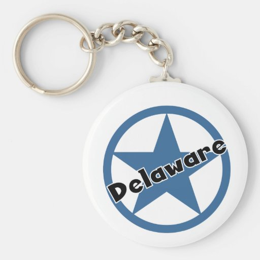 Circle Delaware Keychains