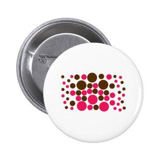 Circle Design Art Brown / Hot Pink Button