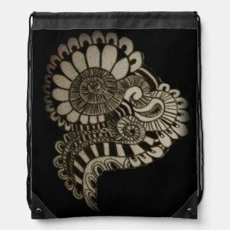 Circle Design Drawstring Backpack