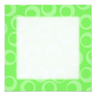 Circle design in green. Retro pattern. Card