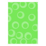 Circle design in green. Retro pattern. Custom Business Card Templates