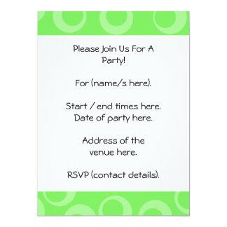 "Circle design in green. Retro pattern. Custom 6.5"" X 8.75"" Invitation Card"
