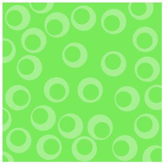 Circle design in green. Retro pattern. Custom Photo Cut Outs