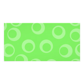 Circle design in green. Retro pattern. Photo Cards
