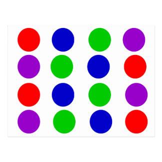 Circle Design Red Blue Green Purple Postcard