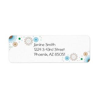 Circle Design Return Address Label