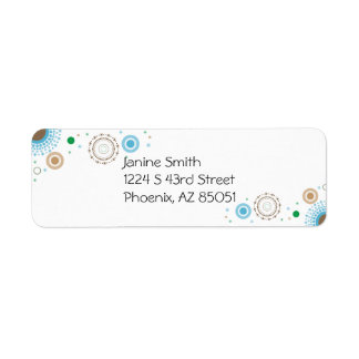 Circle Design Return Address Label