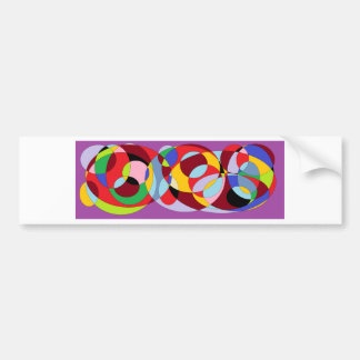 Circle design with various colours. bumper sticker