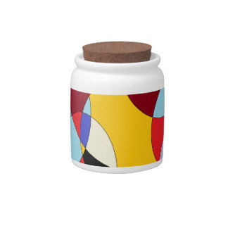 Circle design with various colours. candy jar
