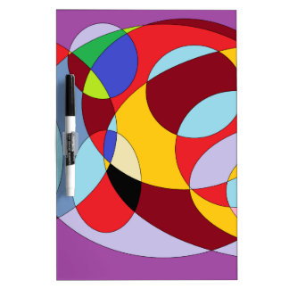 Circle design with various colours. Dry-Erase whiteboard