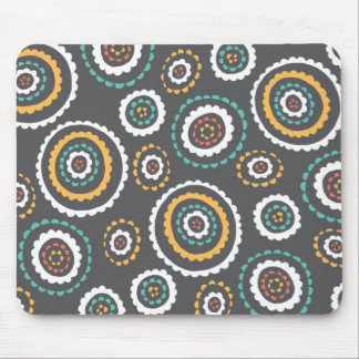 Circle Dot Floral Mousepad