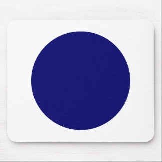Circle - Dp Navy with White Mouse Pad
