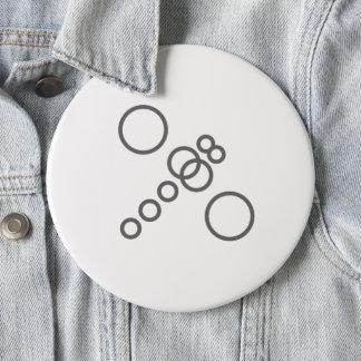 Circle Dragonfly Pinback Button