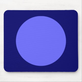 Circle - Electric Blue and Dp Navy Mouse Pad