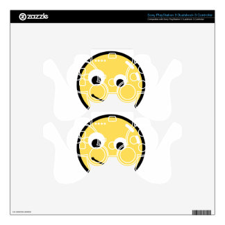 Circle Face Smile PS3 Controller Decals