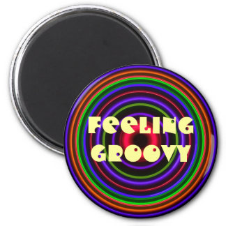 CIRCLE # - FEELING GROOVY Bullet Hole Magnet