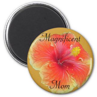 Circle Flower 2 Inch Round Magnet
