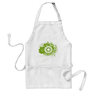 Circle Flowers Swirly - Customized - Customized Adult Apron