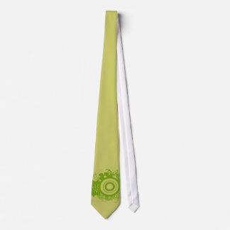 Circle Flowers Swirly - Customized Neck Tie