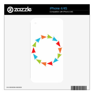 Circle Formation Paper Planes Skins For The iPhone 4