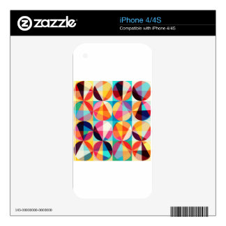 Circle Geometric Kaledioscope Pattern Skin For The iPhone 4