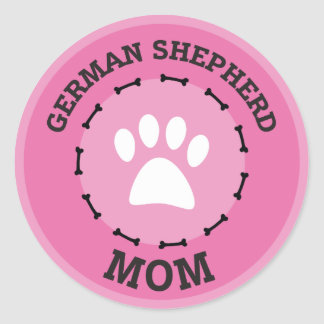 Circle German Shepherd Mom Badge Classic Round Sticker