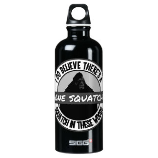 Circle - Gone Squatchin' - Squatch in these Woods Aluminum Water Bottle