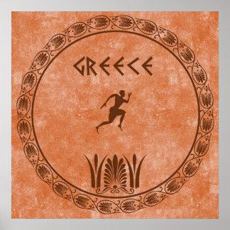 Circle Greek design Print