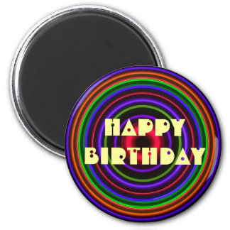 CIRCLE # - HAPPY BIRTHDAY Bullet Hole Magnet