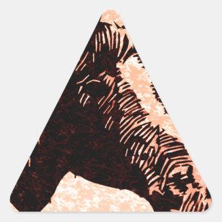 Circle Horse Head Triangle Sticker