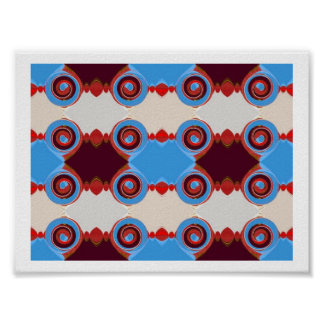 circle in blue and brown poster